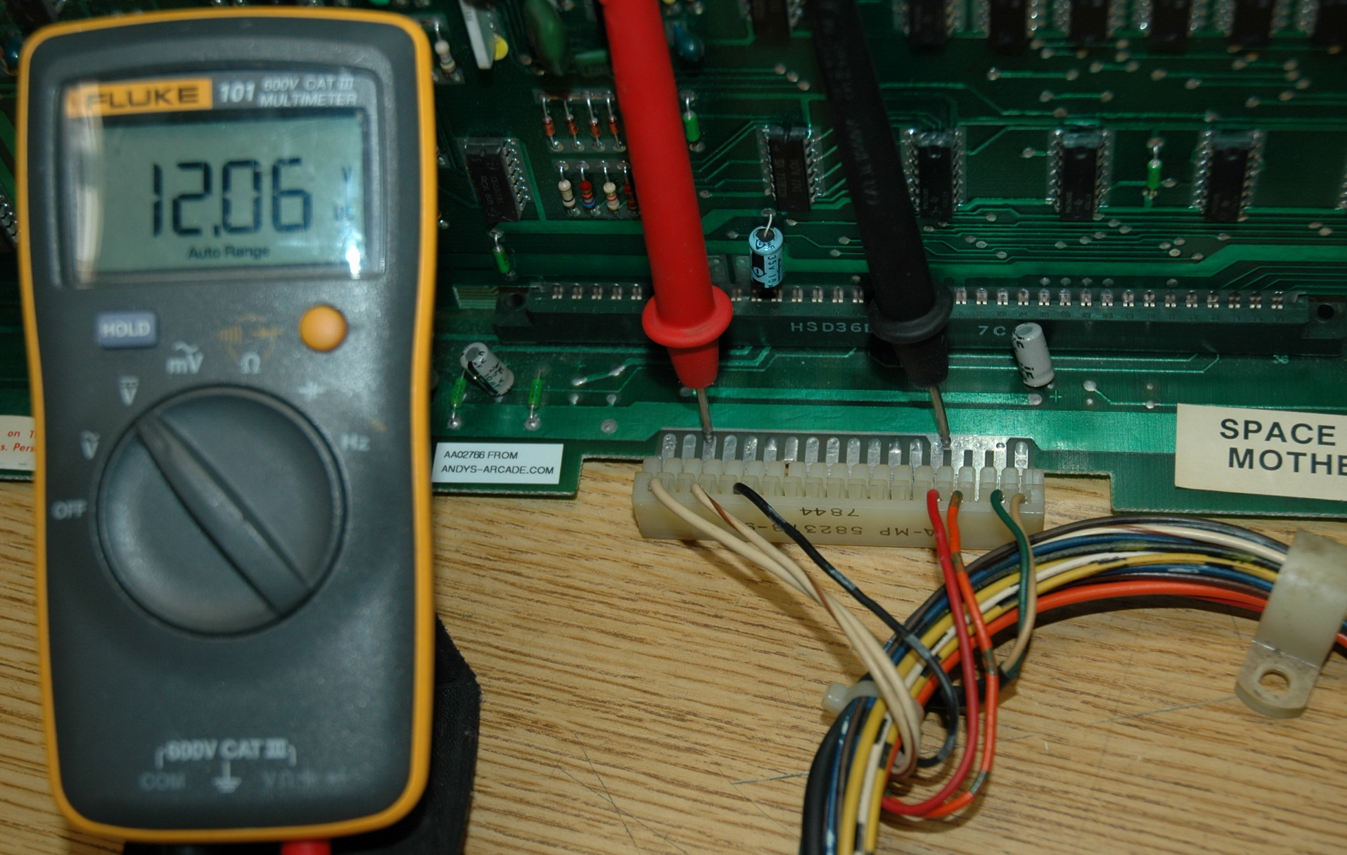Mid12v midway space invaders pcb power supply voltage measurements