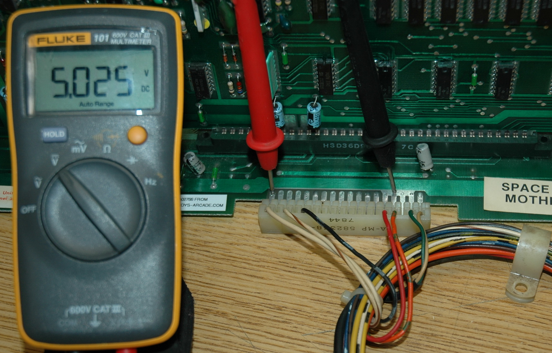 Mid5v midway space invaders pcb power supply voltage measurements