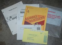 Marble Madness complete paper set